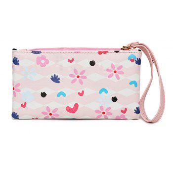 Fashion Painting Simple Wild Cute Female Clutch Bag Tide - PINK