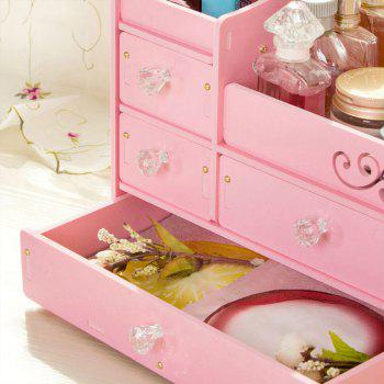 HECARE Plastic Make Up Organizer Jewelry DIY Waterproof Storage Box Cosmetic Container Case - PINK 1PC