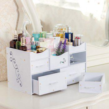 HECARE Plastic Makeup Organizer Waterproof Container Jewelry Container for Cosmetic High-capacity Make Up Storage Case - WHITE 1PC