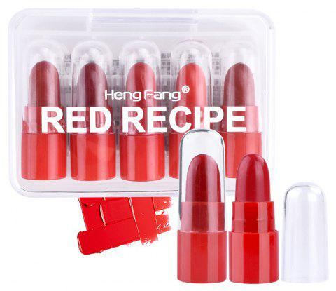 HengFang 9068 Long-lasting 5 Red Colors Series Mini Lipstick - 001