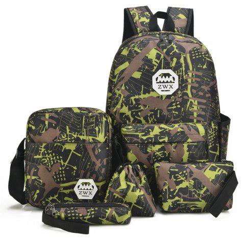 Fashion Travel Backpacks for Teenage Girls Casual School Backbag Camouflage Shoulder Bags - PISTACHIO GREEN