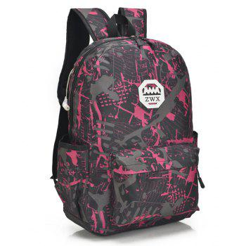 Fashion Travel Backpacks for Teenage Girls Casual School Backbag Camouflage Shoulder Bags - VALENTINE RED