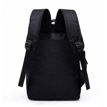 External USB Charge Messenger Patchwork Men Crossbody Bag Large Capacity Casual Travel Man - BLACK