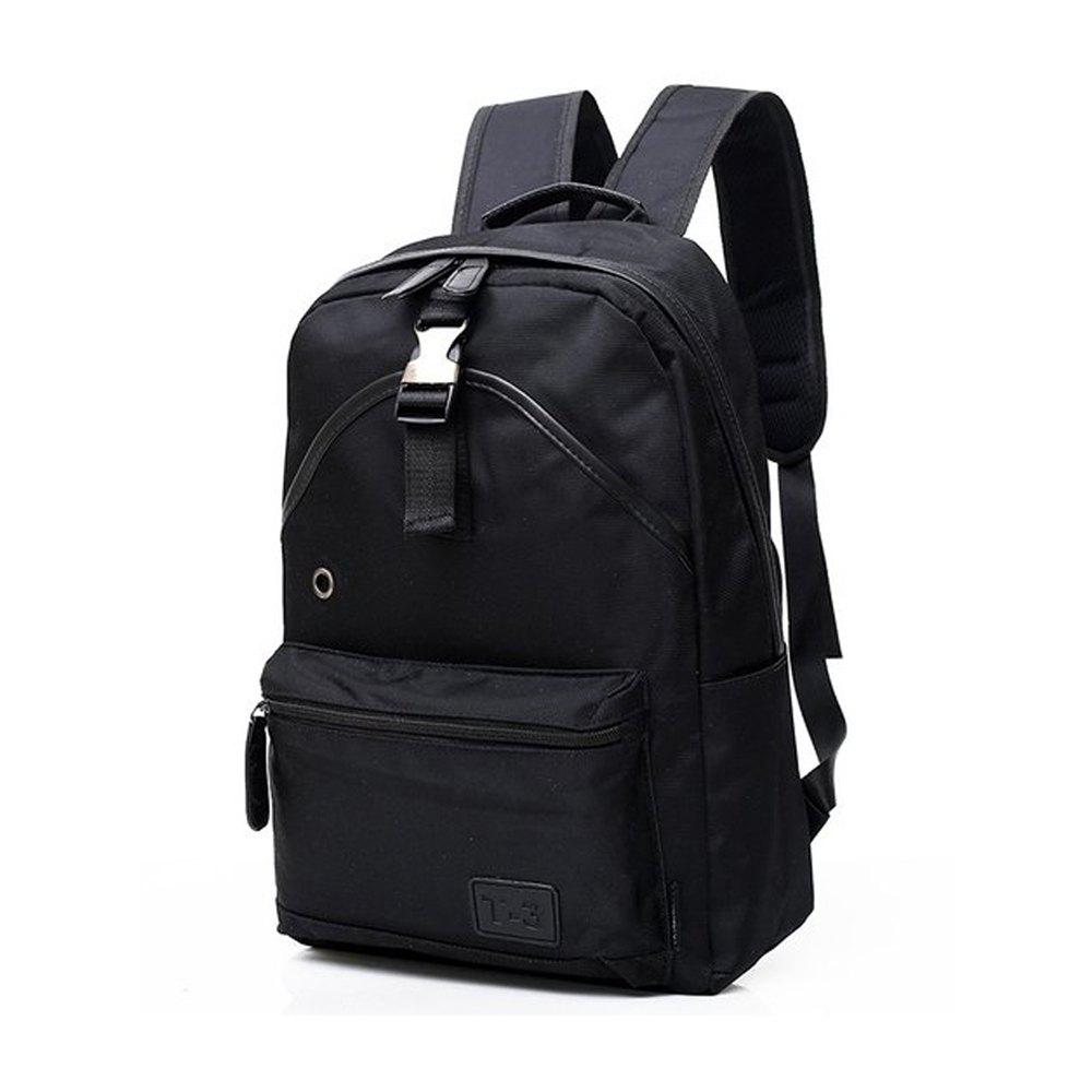 Men'S Backpack Young Waterproof Bags Fashion  Campus School  Male Totes Travel - BLACK