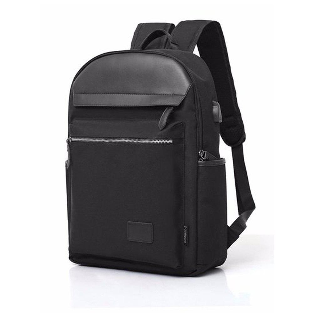 Design Tigernu Brand Men Backpack Anti-Theft USB Charge Port for 14 Inch - BLACK