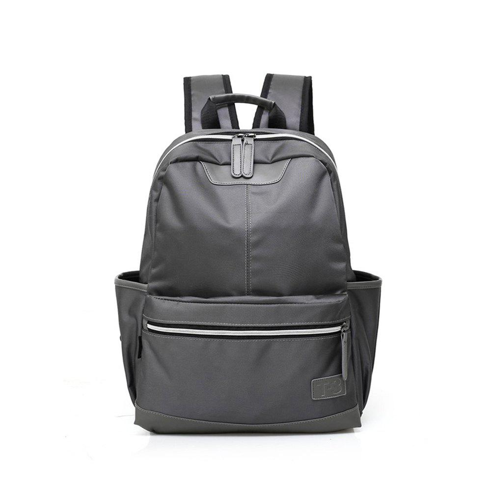 New Men Women Backpack For 15.6 inches Laptop Large Capacity Stundet  Casual Style Bag Water Repellent - GRAY