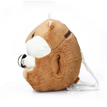 Mignon Petit Sac à Dos Double Hamster Cartoon Peluche Fille Peluche Sac - [