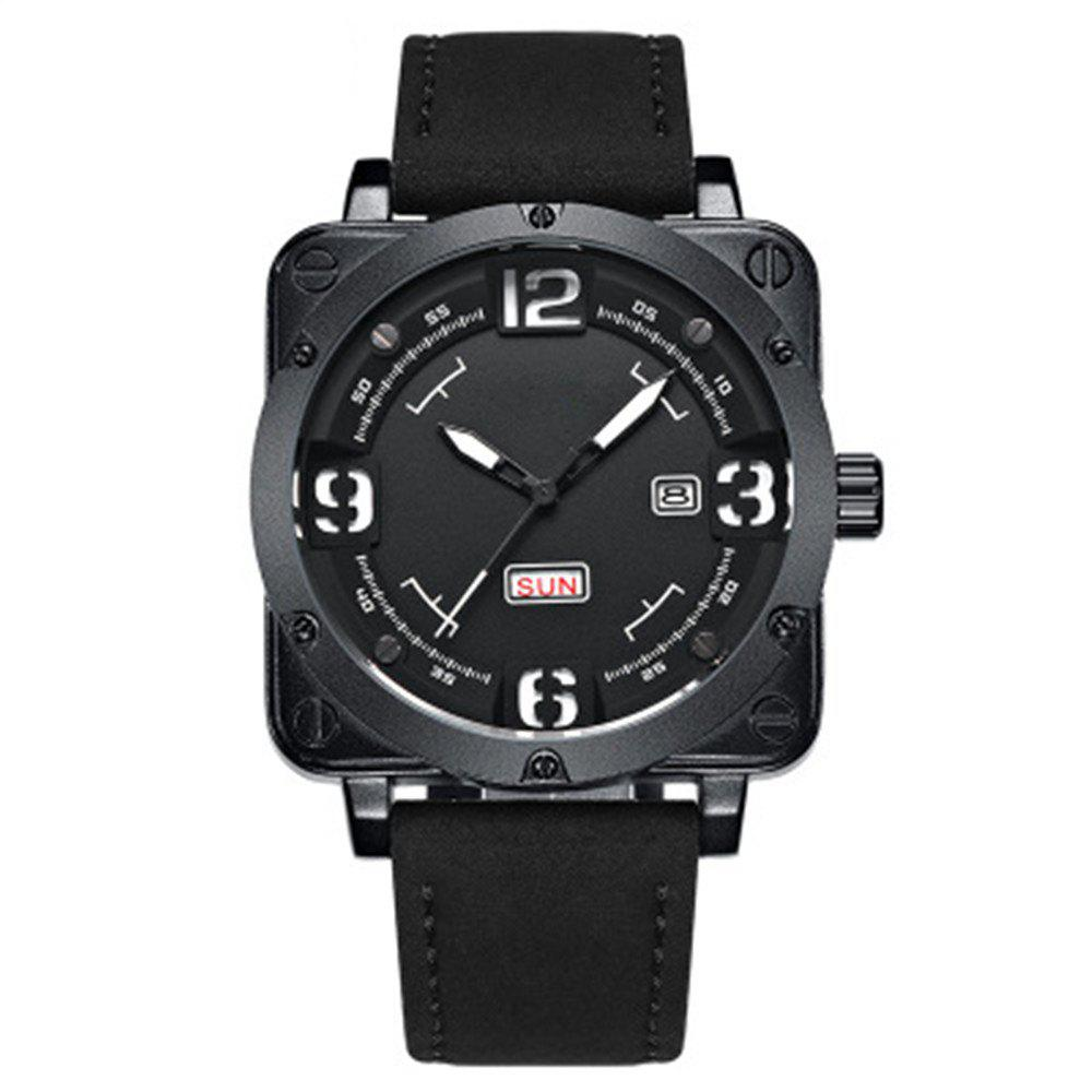 Sports Men Luxury Fashion Quartz Wrist Watch - BLACK
