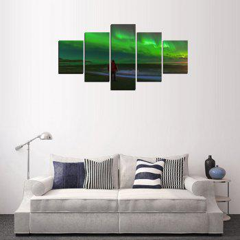 MailingArt FIV608  5 Panels  The World Great Place Wall Art Painting Home Decor Canvas Print - multicolor 12 X 16INCH 2PCS + 12 X 24INCH 2PCS + 12 X 32INCH
