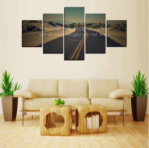 MailingArt FIV609  5 Panels The Moto Wall Art Painting Home Decor Canvas Print - multicolor 12 X 16INCH 2PCS + 12 X 24INCH 2PCS + 12 X 32INCH