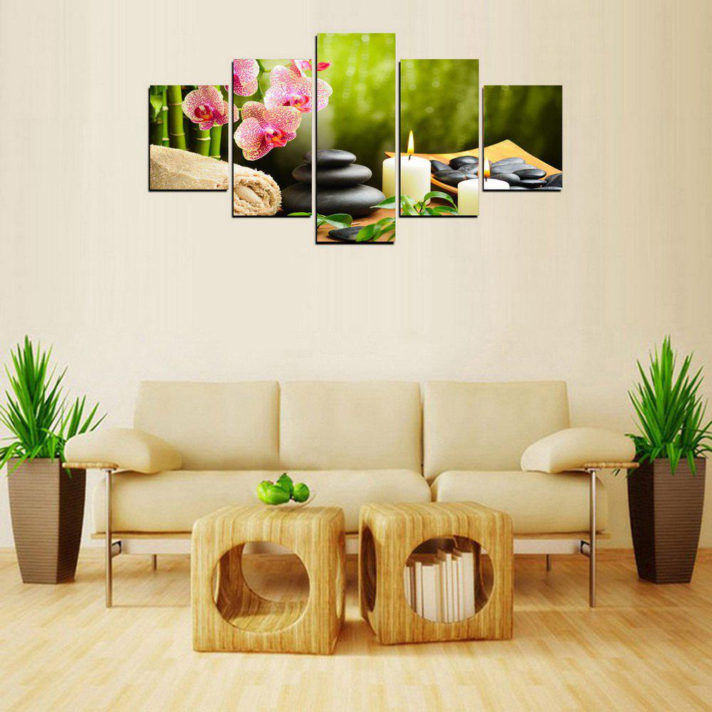 MailingArt FIV612  5 Panels SPA Picture  Wall Art Painting Home Decor Canvas Print - multicolor 8 X 14INCH 2PCS + 8 X 18INCH 2PCS + 8 X 21INCH 1PC