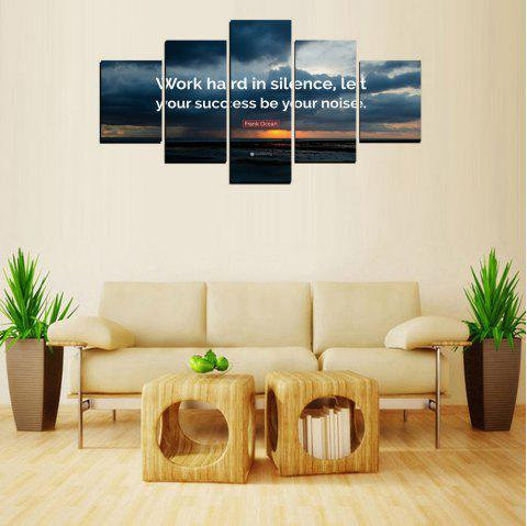 MailingArt FIV618  5 Panels Moto Wall Art Painting Home Decor Canvas Print - multicolor 12 X 16INCH 2PCS + 12 X 24INCH 2PCS + 12 X 32INCH