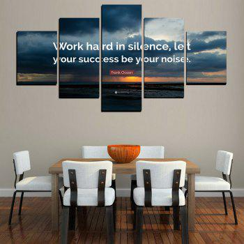 MailingArt FIV618  5 Panels Moto Wall Art Painting Home Decor Canvas Print - multicolor 8 X 14INCH 2PCS + 8 X 18INCH 2PCS + 8 X 21INCH 1PC