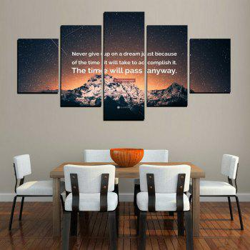 MailingArt FIV619  5 Panels The Moto Wall Art Painting Home Decor Canvas Print - multicolor 12 X 16INCH 2PCS + 12 X 24INCH 2PCS + 12 X 32INCH