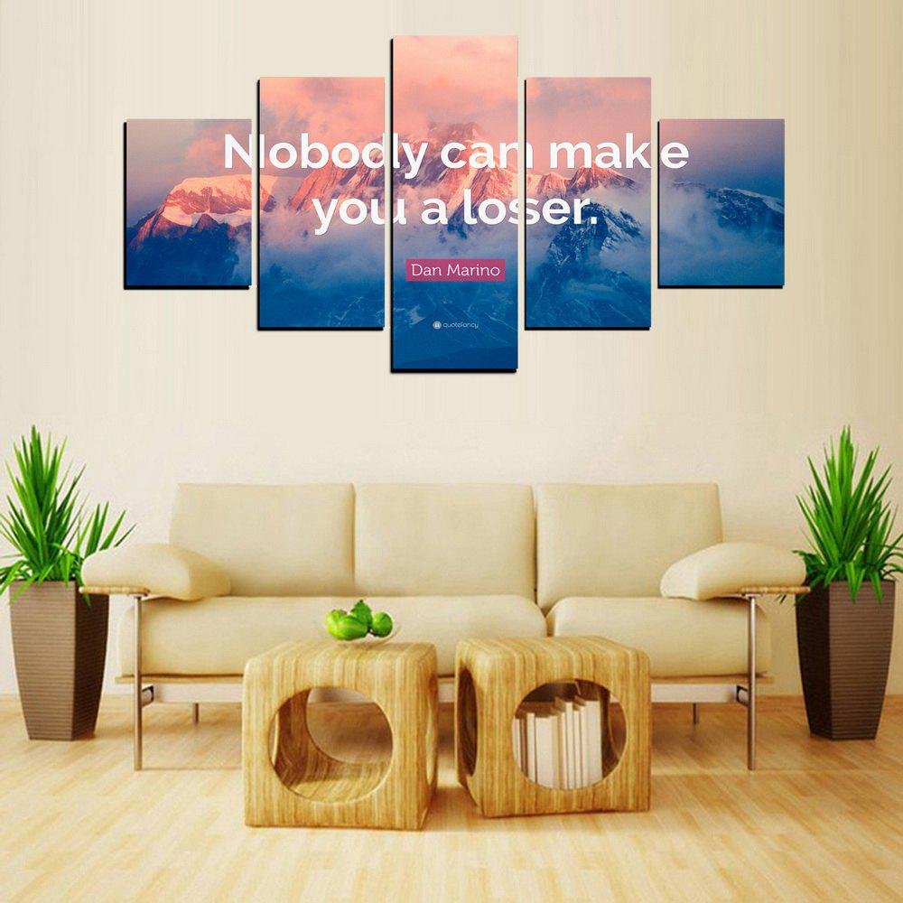 MailingArt FIV620  5 Panels Moto Wall Art Painting Home Decor Canvas Print - multicolor 8 X 14INCH 2PCS + 8 X 18INCH 2PCS + 8 X 21INCH 1PC