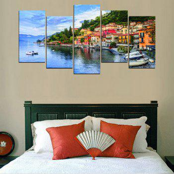 MailingArt FIV624  5 Panels Seascape Wall Art Painting Home Decor Canvas Print - multicolor 8 X 16INCH  4PCS + 8 X 21INCH 1PC