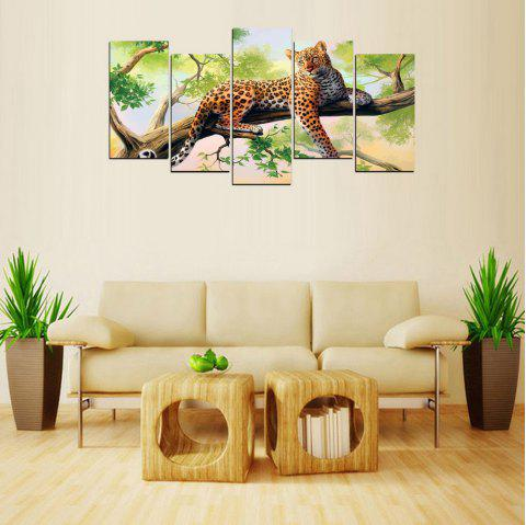 MailingArt FIV626  5 Panels Animal Wall Art Painting Home Decor Canvas Print - multicolor 8 X 16INCH 4PCS + 8 X 21INCH 1PC