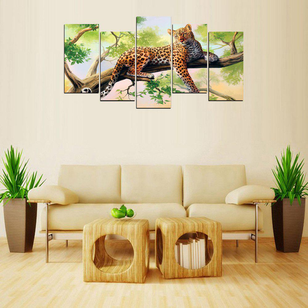 MailingArt FIV626 5 Panneaux Animal Wall Art Peinture Home Decor Impression Sur Toile - multicolor 12 X 24INCH 4PCS + 12 X 32IN 1PC