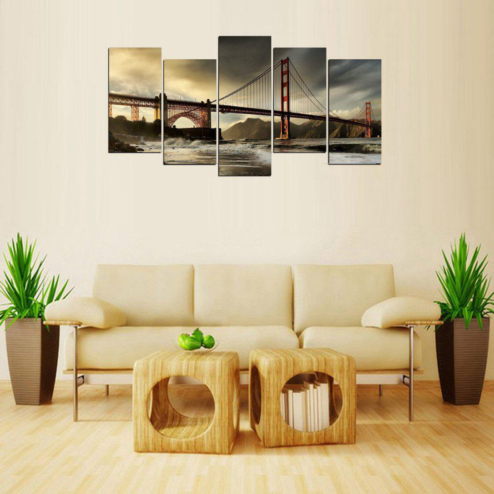 MailingArt FIV626  5 Panels Landscape Wall Art Painting Home Decor Canvas Print - multicolor 12 X 24INCH 4PCS + 12 X 32IN 1PC