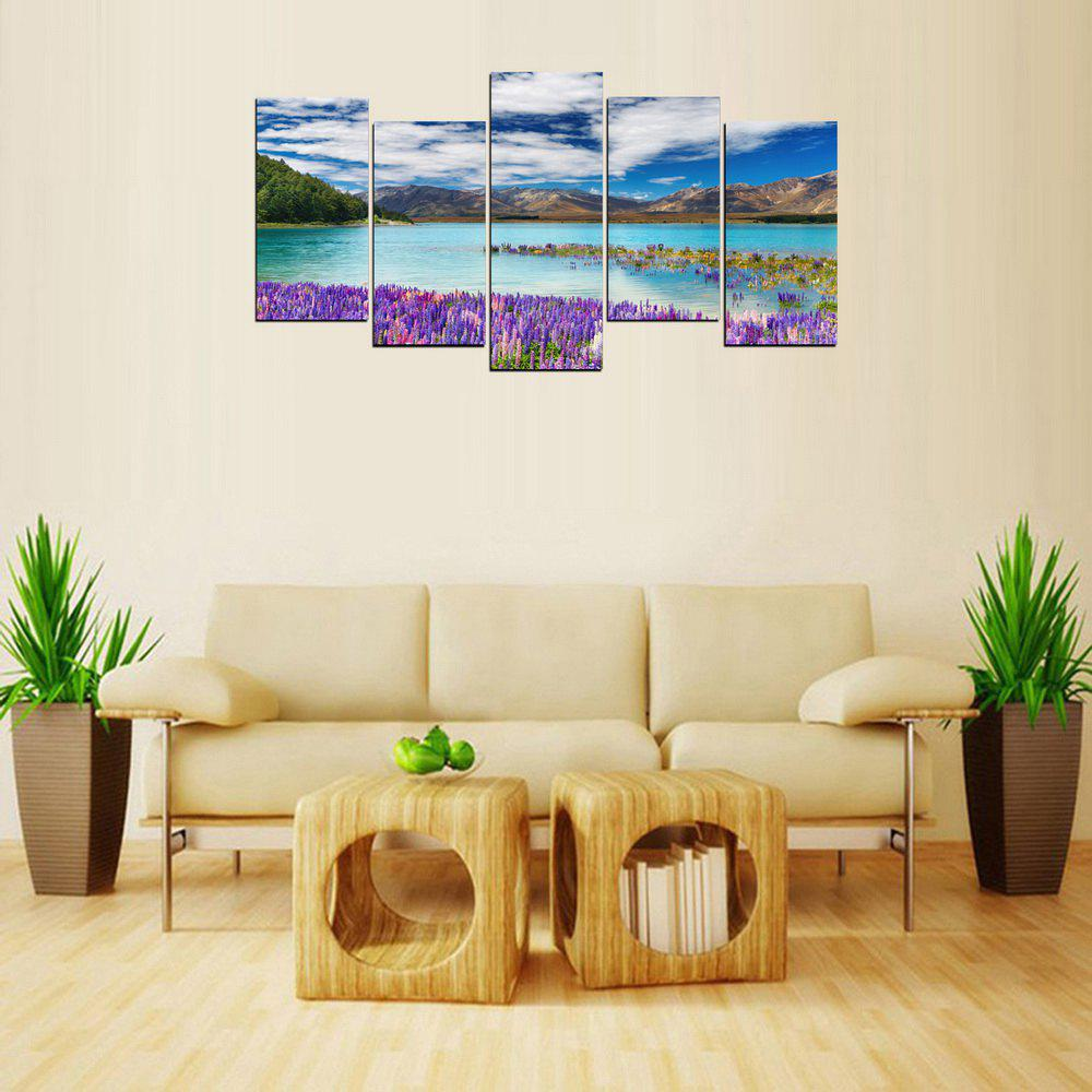 MailingArt FIV633  5 Panels Landscape Wall Art Painting Home Decor Canvas Print - multicolor 12 X 21INCH  4PCS + 12 X 32IN 1PC