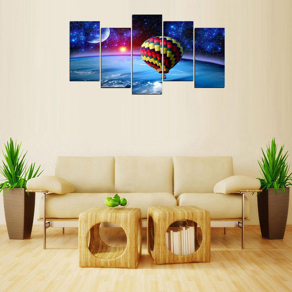 MailingArt FIV634  5 Panels HotAir Balloon Wall Art Painting Home Decor Canvas Print - multicolor 8 X 16INCH 4PCS + 8 X 21INCH 1PC
