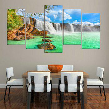 MailingArt FIV638  5 Panels Landscape Wall Art Painting Home Decor Canvas Print - multicolor 12 X 21INCH  4PCS + 12 X 32IN 1PC