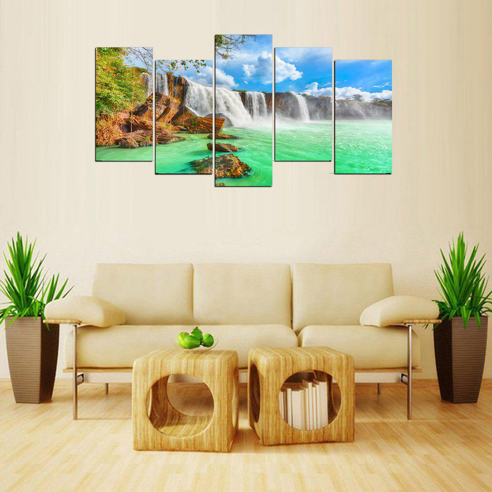 MailingArt FIV638  5 Panels Landscape Wall Art Painting Home Decor Canvas Print - multicolor 12 X 24INCH  4PCS + 12 X 32IN 1PC
