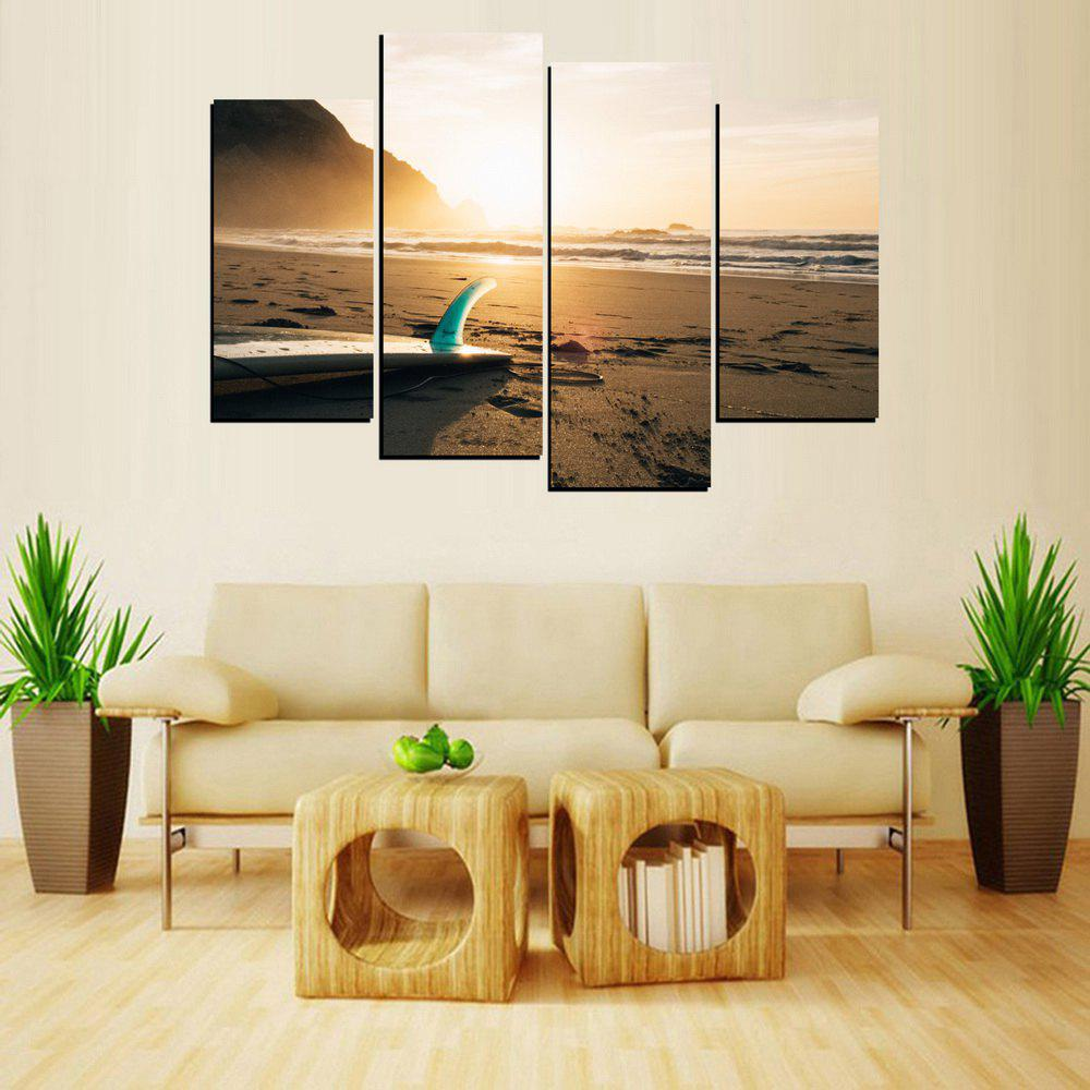 MailingArt FIV644  4 Panels Landscape Wall Art Painting Home Decor Canvas Print - multicolor 12X24INCH 2PCS + 12X32INCH 2PCS