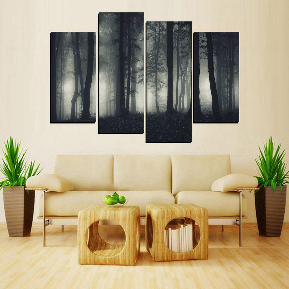 MailingArt FIV650  4 Panels Landscape Wall Art Painting Home Decor Canvas Print - multicolor 12X24INCH 2PCS + 12X32INCH 2PCS