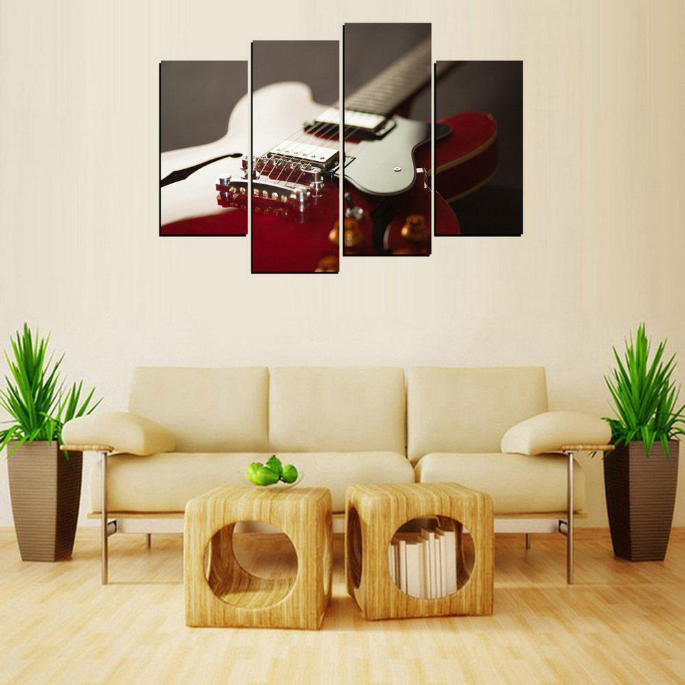 MailingArt FIV650  4 Panels Guitar Wall Art Painting Home Decor Canvas Print - multicolor 12X24INCH 2PCS + 12X32INCH 2PCS