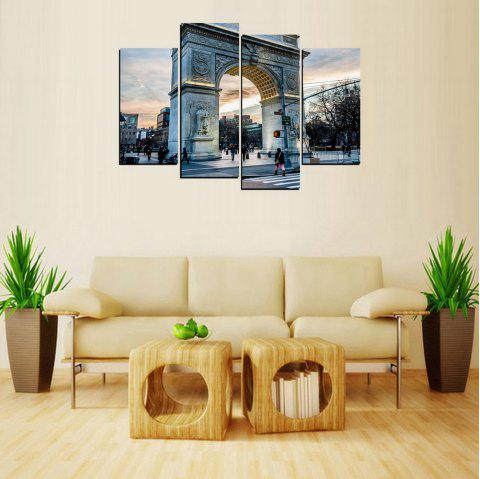 MailingArt FIV655  4 Panels Landscape Wall Art Painting Home Decor Canvas Print - multicolor 12X24INCH 2PCS + 12X32INCH 2PCS