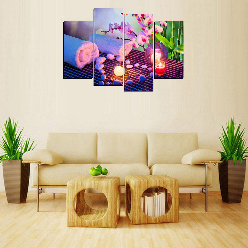 MailingArt FIV656  4 Panels Landscape Wall Art Painting Home Decor Canvas Print - multicolor 12X24INCH 2PCS + 12X32INCH 2PCS