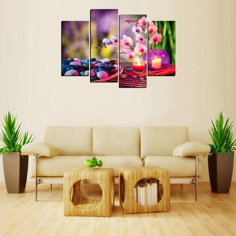 MailingArt FIV658  4 Panels Landscape Wall Art Painting Home Decor Canvas Print - multicolor 12X24INCH 2PCS + 12X32INCH 2PCS