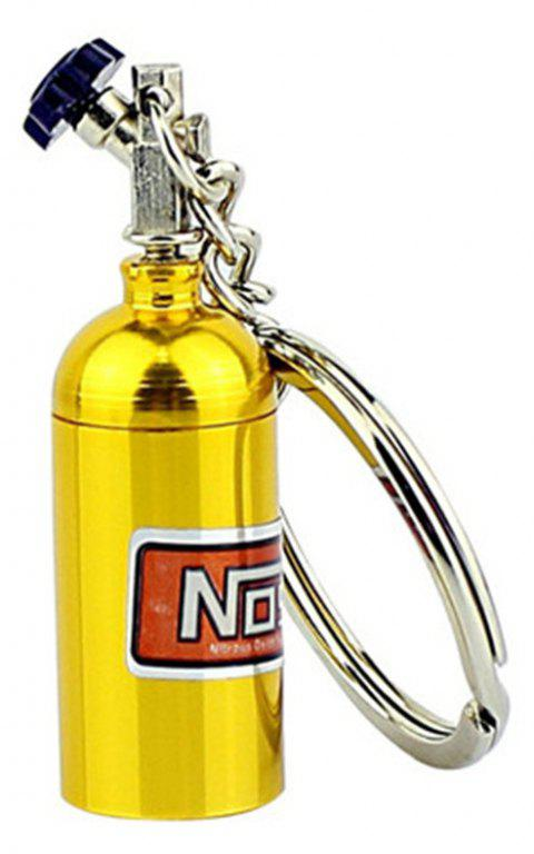 Mini Nitrous Oxide Bottle Turbo Keychain - YELLOW