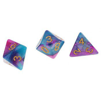 Different Polyhedral 7PCS - multicolor A
