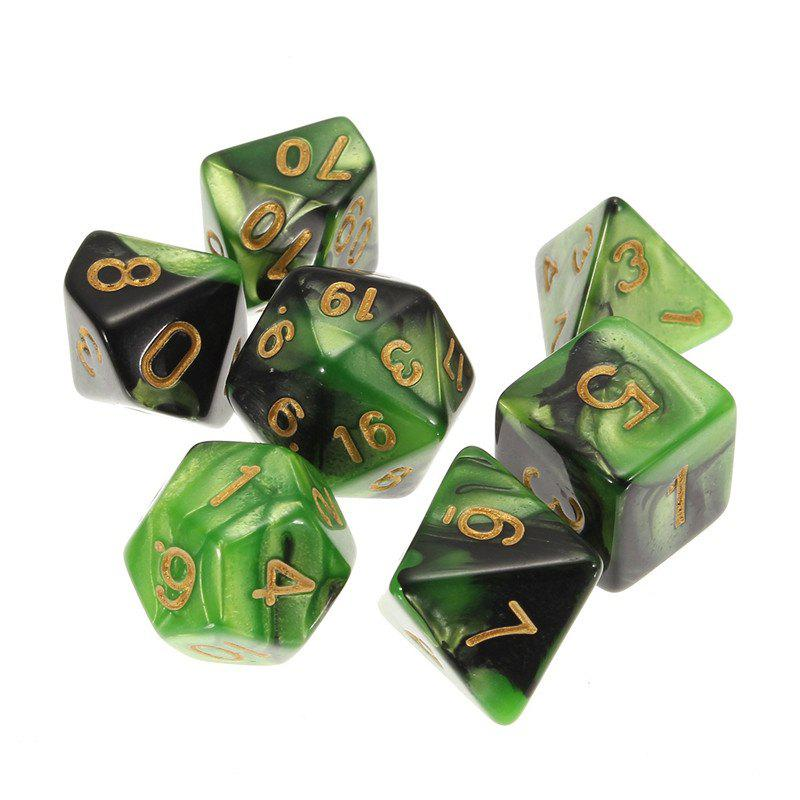 Different Polyhedral 7PCS - multicolor C