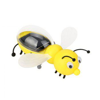 Solar Powered Guarding Little Bee Gadget Brain Educational Toys - YELLOW