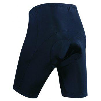 Realtoo Men's 3D Padded Bicycle Ridling Underwear Shorts - BLACK 3XL