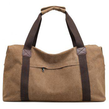 New Canvas Suitcase Packed with Men's Large Luggage Bags - COFFEE 53 X 28 X 30