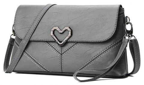 The New Women's Shoulder Bag Stylish and Simple Soft Leather Handbag - GRAY 25 X 5 X 14