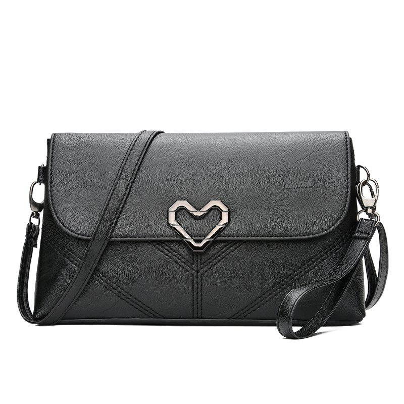The New Women's Shoulder Bag Stylish and Simple Soft Leather Handbag - BLACK 25 X 5 X 14
