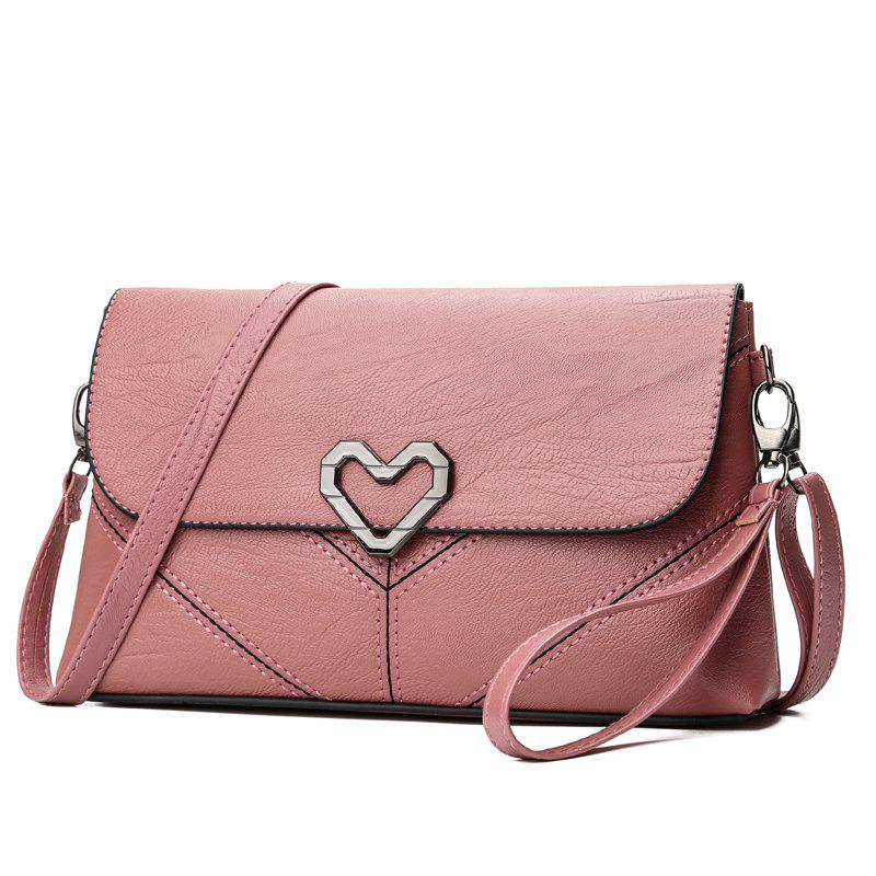 The New Women's Shoulder Bag Stylish and Simple Soft Leather Handbag - PINK 25 X 5 X 14