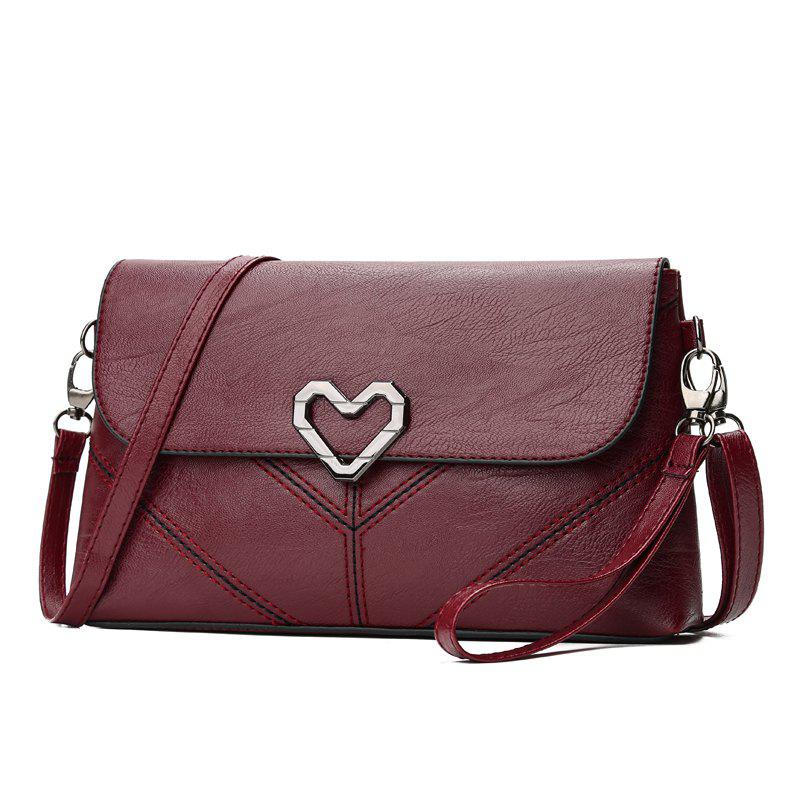 The New Women's Shoulder Bag Stylish and Simple Soft Leather Handbag - RED WINE 25 X 5 X 14