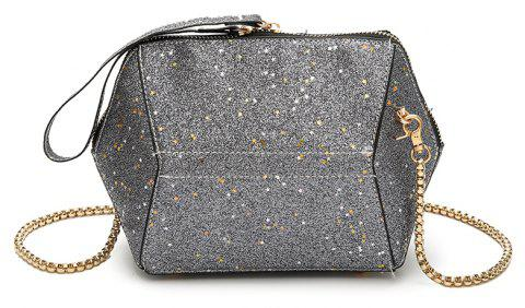 3c0e15074548 Fashion Bag Female New Tide Sequins Inclined Handbag Character Single  Shoulder - GRAY 22 X 8