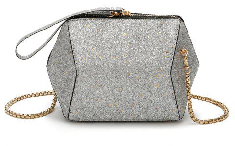 2a1b95a9f2d6 Fashion Bag Female New Tide Sequins Inclined Handbag Character Single  Shoulder - PLATINUM 22 X 8