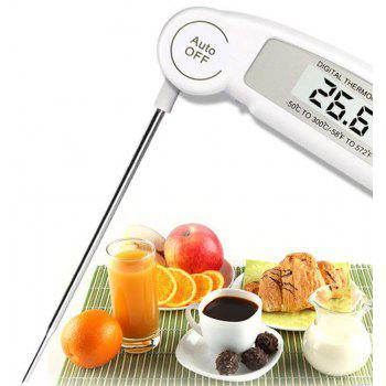 Foldable Dust Probe Kitchen Food Thermometer - WHITE