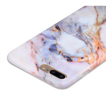 Luxury Marble Stone Pattern Slim Fit Soft Tpu Mobile Phone Case Cover Coque for iPhone 8 Plus - multicolor