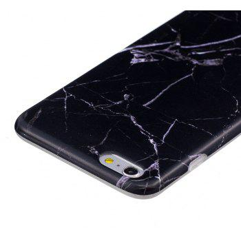 Luxury Marble Stone Pattern Slim Fit Soft Tpu Mobile Phone Case Cover Coque for iPhone 6 Plus/6S Plus - Black - BLACK