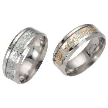 Punk Stainless Steel Luminescent Ring Men Jewelry - GOLD US SIZE 8