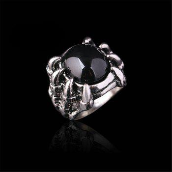 Titanium Steel Fashion Personality Devil Paw Ring Black Ruby Men Woman - BLACK US SIZE 9